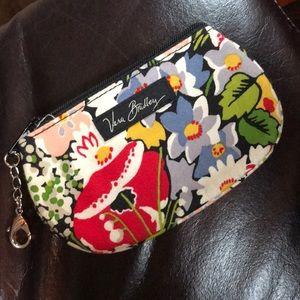 Vera Bradley Poppy coin purse w/ ID window EUC